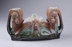 no Andreas Ollestad Glazing Techniques, Needful Things, Public Domain, Art Decor, Art Nouveau, Lion Sculpture, Objects, Museum, Vase