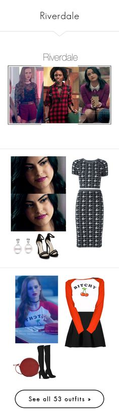 """""""Riverdale"""" by shadyannon ❤ liked on Polyvore featuring VeronicaLodge, riverdale, jugheadjones, bettycooper, Alice + Olivia, Nly Shoes, T By Alexander Wang, Diane Von Furstenberg, Humble Chic and H&M"""