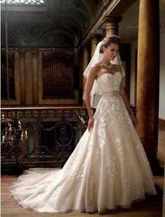 Gorgeous A-Line Sweetheart Neckline Wedding Dress