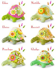 Turtle pincushions by Heather Bailey