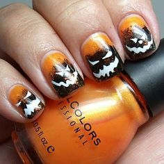 Hopefully you will have some new tips for your Halloween nails now. Just bear in mind that you ought to be comfortable with the nail art you select for Halloween. Halloween nail designs should be cautiously picked. Get Nails, Love Nails, How To Do Nails, Pretty Nails, Hair And Nails, Halloween Nail Designs, Halloween Nail Art, Spooky Halloween, Happy Halloween