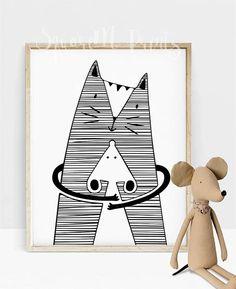 Hug me - cute kids poster | kids decor | baby room decor | nursery wall art