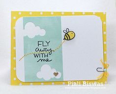 Lawn Fawn - Hello Sunshine, Let's Polka paper _ pretty card by Piali via Flickr - Photo Sharing!
