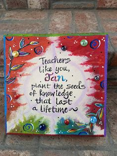 This item is unavailable Painted Bricks, Hand Painted, Inspirational Qoutes, Garden Stepping Stones, Painting Concrete, Brick Pavers, Stone Pictures, Sympathy Gifts, Tile Art