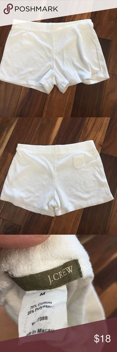 J. Crew terry cloth shorts Great condition. No tears or stains J. Crew Shorts