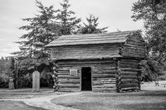 Davis Blockhouse, Whidbey Island, Washington, 2015 | Click the picture above for information on purchasing a fine art photography wall print. | #blackandwhite #rural