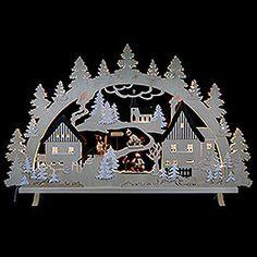 Candle arch  -  Erzgebirge Scene  -  125x82x16cm / 49x32x6 inch