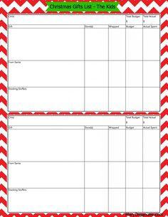 Christmas Gift Lists (Free Gift List Printables!)