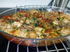 Paella, Potato Salad, Chicken Recipes, Food And Drink, Cooking Recipes, Meat, Ethnic Recipes, Yummy Yummy, Party Time
