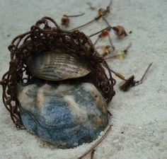 Dark Brown Beach Treasure Pouch Soft Necklace by PurpleToedGypsy, $18.00
