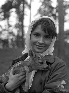 "Teresa Tuszyńska w filmie ""Tarpany"", 1961."