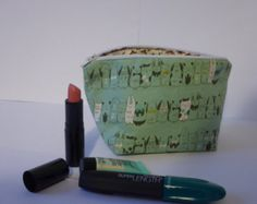 Bunny & Penguin Pouch - Make-up / Pencil Case -    Edit Listing  - Etsy