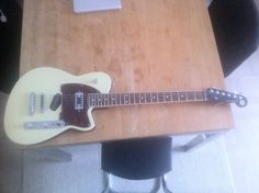 Reverend Buckshot. Great guitar for the money. Did try out some different pickups with different results.