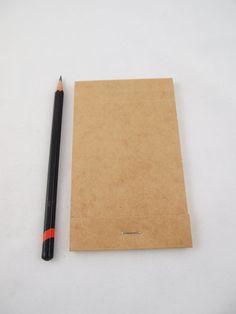 Tan Blank Manila Folder Matchbook Notepad by WestCermak on Etsy, $3.00
