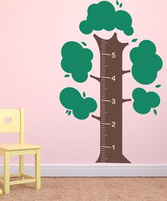 Brown & Green Growth Chart Tree Decal Set | zulily