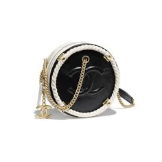 5a1a6a4db610 Chanel Black/White Two-Tone En Vogue Small Round Crossbody Bag  #blackandgoldcrossbodybag