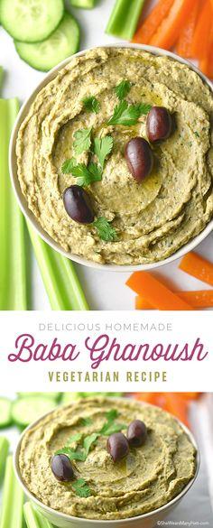 Homemade Baba Ghanoush Recipe | shewearsmanyhats.com