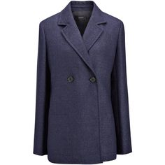 Joseph Linen Suiting Brest Jacket (48.680 RUB) ❤ liked on Polyvore featuring men's fashion, men's clothing, men's outerwear, men's jackets, indigo, mens double breasted jacket, mens linen jackets, mens linen blazer jacket, mens fleece lined jacket and mens blazer jacket