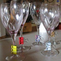 Utilizzare clip legante o colori assortiti per mantenere organizzati :: OrganizingMadeFun.com