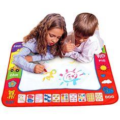 Anak Doodle Menggambar Mainan 1 Lukisan Mat + 2 Water Drawing Pen anak papan gambar/menggambar mat