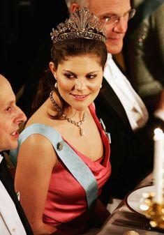 2004 Crown Princess Victoria of Sweden attends the Nobel Prize ceremony in Stockholm