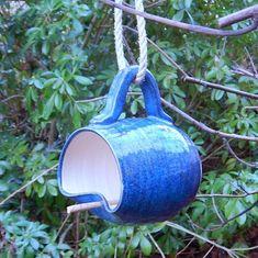 Bird feeder ..... hand thrown stoneware...... fully weatherproof #PotteryClasses