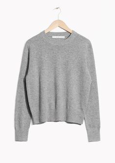 & Other Stories image 2 of Cashmere Knit Sweater in Grey