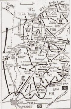 Eco-Gites of Lenault: The Battle for Lénault.  Map showing troop movements to the west of Lénault