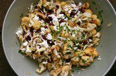 Salade van bloemkool, kidneybonen en feta