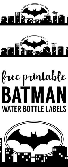 Easy DIY Batman water bottle or juice box wrapper. Print this easy decor for your Batman birthday party baby shower Halloween comic theme party. Lego Batman Party, Lego Batman Birthday, Superhero Birthday Party, Batman Games, Birthday Box, Batman Food, Batgirl Party, Birthday Crafts, Avengers