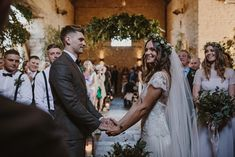 Greenery Wedding at Cripps Barn in the Cotswolds with Halfpenny London Wedding Dress and ASOS Bridesmaids Dresses, shot by Sara Lincoln Photography Flowers In Hair, Wild Flowers, Asos Bridesmaid Dress, Wedding Bouquets, Wedding Dresses, London Wedding, Wax Seals, Bridal Shoes, Newlyweds
