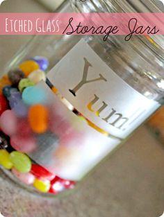 etched storage jars
