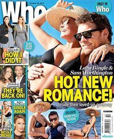 Lara Bingle And Sam Worthington Sam Worthington, Nicole Richie, Romance, October 2013, Magazine Covers, Magazines, Muse, Lifestyle, Romance Film