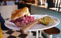 The perfect Reuben sandwich from Mishkin's, London Cajun Recipes, Italian Recipes, Reuben Sandwich, Food Stall, Fish And Chips, Recipes From Heaven, French Food, Southern Recipes, Fritters