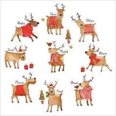 XS01 Rudolph and Friends £4.25 Pack of 8 flittered Christmas cards, with 100gsm, 100% recycled, white envelopes. Message inside reads: Best Wishes for Christmas and the New Year. Visit our website www.turnerscards.co.uk to buy this card or see the complete range.