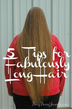 5 Tips for Fabulously Long Hair - BusyBeingJennifer.com  #TRESemmeTransformation #sp