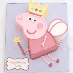 Peppa Pig - cake by Trish T Peppa Pig Birthday Cake, Fairy Birthday Party, 5th Birthday, Birthday Ideas, Tortas Peppa Pig, Pig Party, Character Cakes, Girl Cakes, Party Cakes