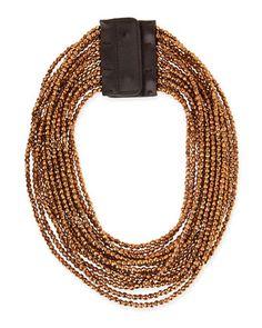 Beaded Multi-Strand Necklace, Copper by Brunello Cucinelli at Bergdorf Goodman.