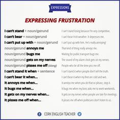 expressing frustration