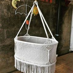 Macrame Crib love to and in this Check our shop at Macrame Art, Macrame Projects, Macrame Knots, Micro Macrame, Crochet Hammock, Hanging Crib, Macrame Chairs, Diy Crib, Baby Swings