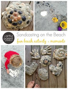 Ocean Crafts - Sandcasting on the Beach