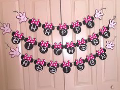 Items similar to Red and Gold Glitter Minnie Mouse Birthday Banner on Etsy Minnie Mouse Birthday Decorations, Minnie Mouse Theme Party, Minnie Mouse Baby Shower, Mickey Mouse Clubhouse Birthday, Minnie Mouse Cake, Minnie Birthday, 1st Birthday Girls, 2nd Birthday Parties, Happy Birthday