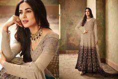 Salwar Kameez Indian Women's Georgette Designer Elegant Anarkali Salwar Suit KF