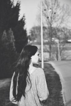 Girl on black