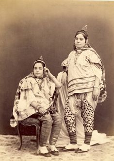 Femmes juives de Tunis, vers 1890 Libellés : photographie, Tunis, Tunisia, Tunisie, vintage photography