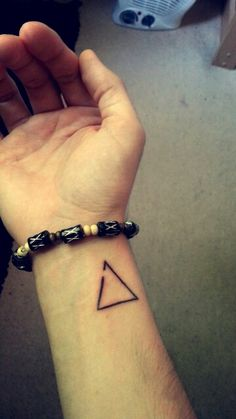 Delta triangle tattoo. The triangle is the greek letter for change and the gap represents open to change! I like it because without change we'd still be cavemen.