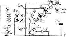 Diagrama completo da fonte 0-20 V x 5 ª Hobby Electronics, Electronics Projects, Electronics Components, Electronic Circuit Projects, Electronic Engineering, Electrical Engineering, Power Supply Design, Bartop Arcade, Technology