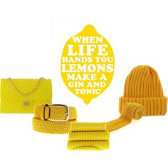 """""""When Life Hands You Yellow"""" by coolorfool on Polyvore"""