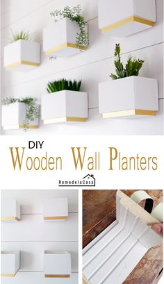 Diy Wooden Planters, Diy Wall Planter, Wooden Diy, Wooden Boxes, Concrete Planters, Indoor Planter Box, Wrought Iron Decor, Wall Boxes, 3d Laser