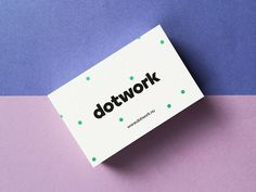 Brand identity and business card designed by Subform for search advertising specialist Dotwork.
